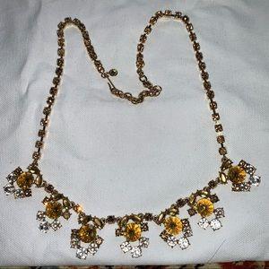 J. Crew Flower Crown Crystal Necklace